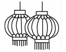 传统灯笼怎么画 灯笼简笔画图片