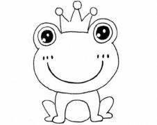 青蛙王子怎么画简单好看 青蛙简笔画图片