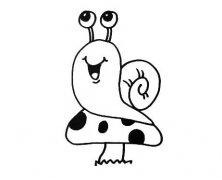 卡通蜗牛怎么画带步骤 蜗牛简笔画图片