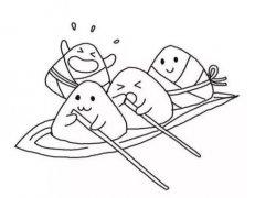 卡通粽子怎么画简单 粽子简笔画图片