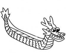 赛龙舟的画法简单好看 龙舟简笔画图片