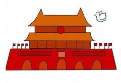 北京天安门怎么画简单又漂亮 天安门简笔画图片