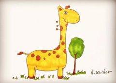 长颈鹿怎么画涂色简单又漂亮 带步骤图