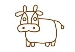 牛简笔画怎么画带步骤图简单又好看