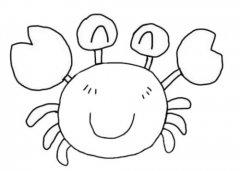 卡通螃蟹的画法步骤图简单又好看