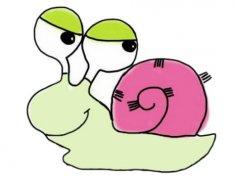 卡通蜗牛怎么画涂色简单 带步骤图