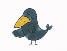 小乌鸦怎么画带步骤图简单又好看