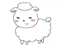 小绵羊怎么画简单又可爱带步骤图