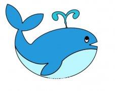 鲸鱼喷水怎么画带步骤图简单好看