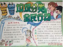 小学生垃圾分类手抄报内容与图片一等奖一年级