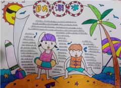 防溺水手抄报怎么画简单漂亮一年级获奖模板