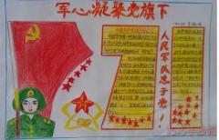建党节手抄报怎么画简单又漂亮一等奖五年级