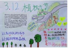 植树节手抄报内容与图片小学生获奖手抄报