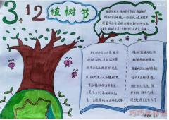 植树节手抄报怎么画简单又漂亮小学生获奖设计图