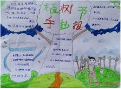 国际植树节手抄报怎么画简单漂亮一等奖五年级设计图