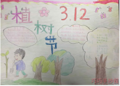 小学生植树节手抄报怎么画简单漂亮获奖手抄报
