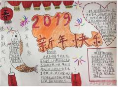 迎新年手抄报怎么画简单又漂亮一等奖小学生获奖手抄报